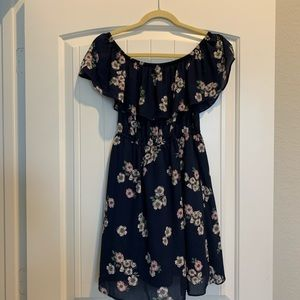 Navy Cupackes and Cashmere Floral Dress